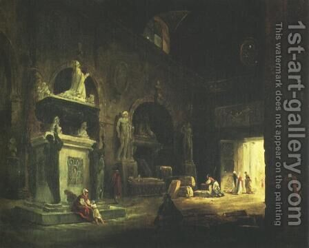 çais by Hubert Robert - Reproduction Oil Painting