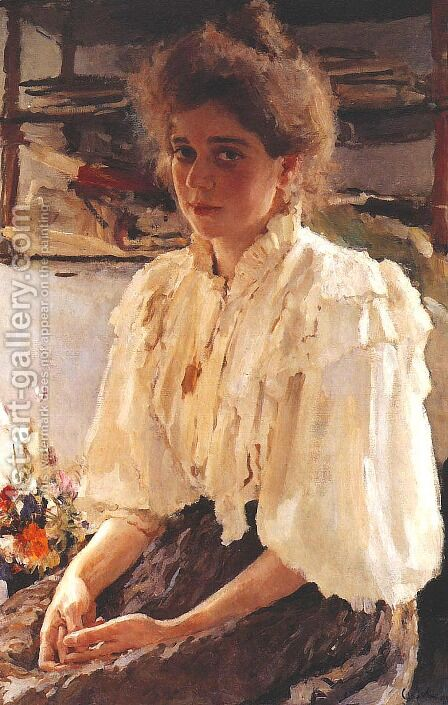 Madame Lvov by Valentin Aleksandrovich Serov - Reproduction Oil Painting
