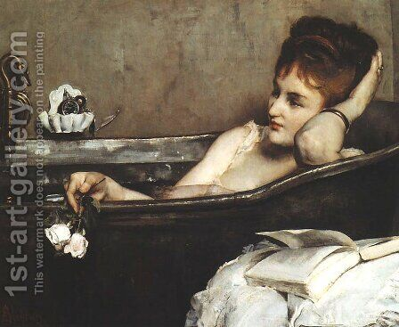 The Bath 1867 by Alfred Stevens - Reproduction Oil Painting