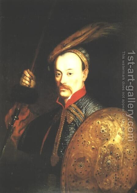 Portrait of Wincenty Gosiewski by Daniel Schultz - Reproduction Oil Painting