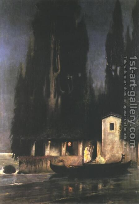 Departure from an Island at Night by Henryk Hector Siemiradzki - Reproduction Oil Painting