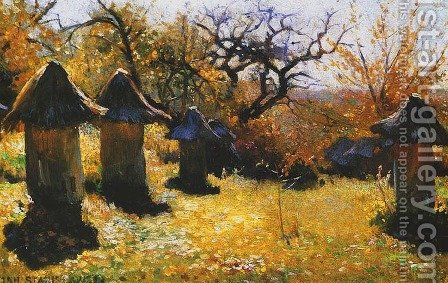 Beehives in the Ukraine by Jan Stanislawski - Reproduction Oil Painting
