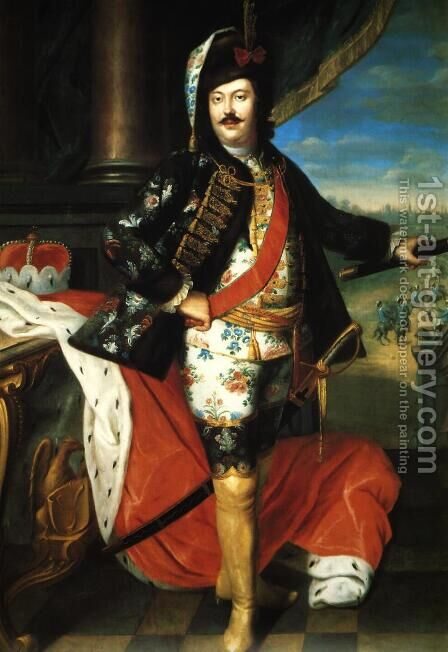 Hieronim Florian Radziwill by Jakub Wessel - Reproduction Oil Painting