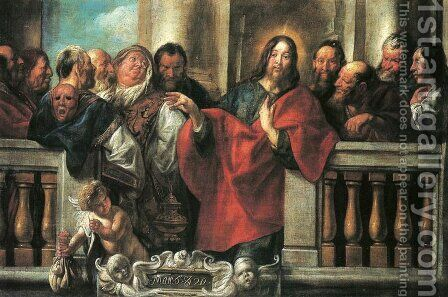Jesus and the Pharisees by Jacob Jordaens - Reproduction Oil Painting