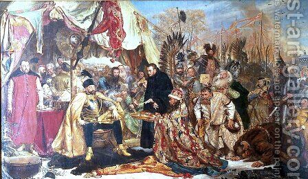 Stefan Batory at Pskov by Jan Matejko - Reproduction Oil Painting