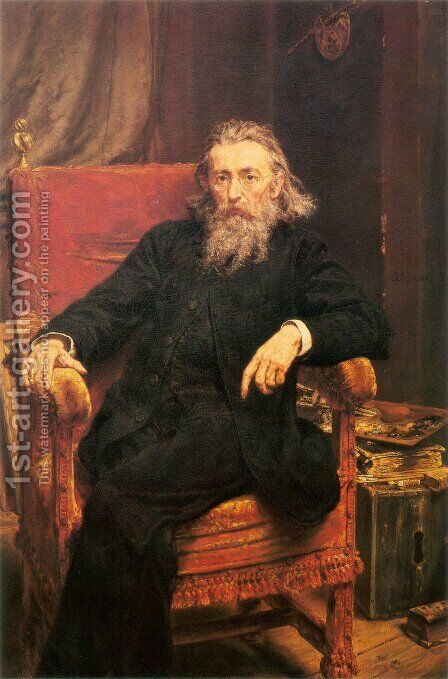 Self-Portrait by Jan Matejko - Reproduction Oil Painting