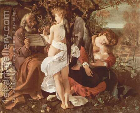 Rest on the Flight into Egypt (Riposto durante la fuga in Egitto) by Caravaggio - Reproduction Oil Painting