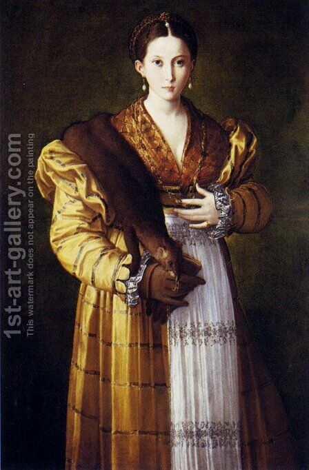 Portrait of a Young Woman known as Antea by Girolamo Francesco Maria Mazzola (Parmigianino) - Reproduction Oil Painting