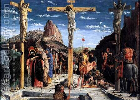 Crucifixion (Crocifissione) by Andrea Mantegna - Reproduction Oil Painting