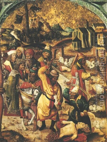 Slashing the Body of St. Stanislaw by - Unknown Painter - Reproduction Oil Painting