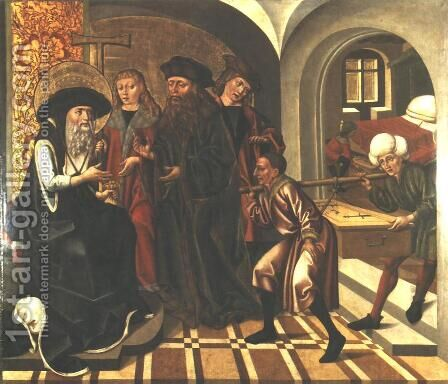 Accusation of a Patrician of Stealing Church Property by - Unknown Painter - Reproduction Oil Painting