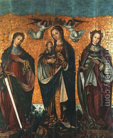 Sacra Conversazione by - Unknown Painter - Reproduction Oil Painting