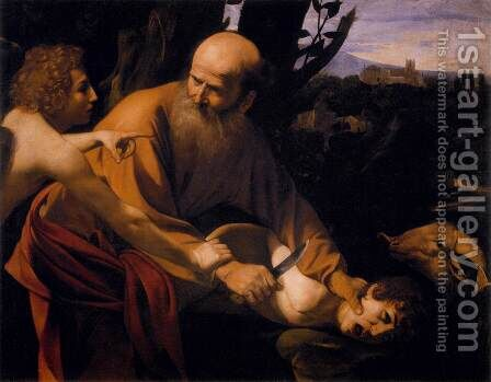 Sacrifice of Isaac (Sacrificio di Isacco) by Caravaggio - Reproduction Oil Painting