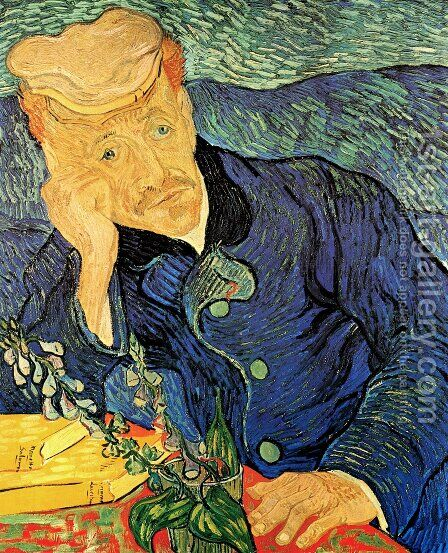 Dr. Paul Gachet by Vincent Van Gogh - Reproduction Oil Painting