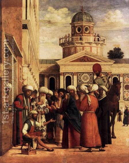 Healing of Anianus (Risanamento di Aniano) by Giovanni Battista Cima da Conegliano - Reproduction Oil Painting