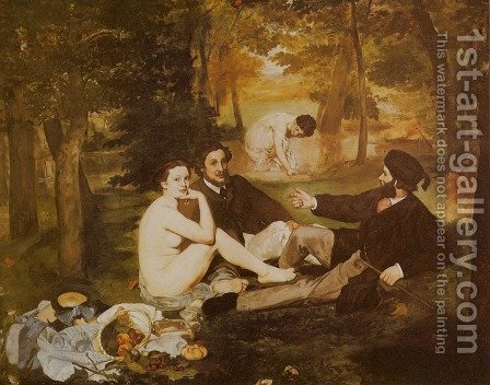 Picnic (Le Dejeuner sur l'Herbe) by Edouard Manet - Reproduction Oil Painting