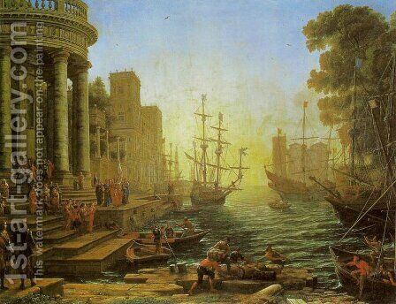 Embarkation of St. Ursula by Claude Lorrain (Gellee) - Reproduction Oil Painting