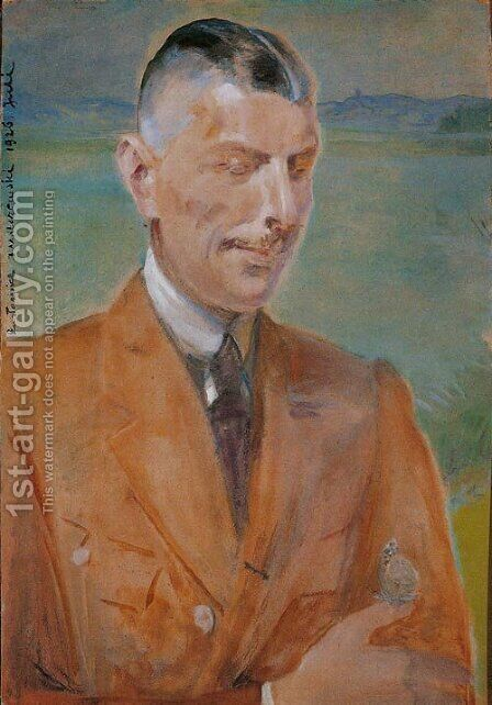 Portrait of a Man by Jacek Malczewski - Reproduction Oil Painting