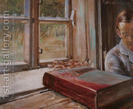 Boy by the Window by Jacek Malczewski - Reproduction Oil Painting