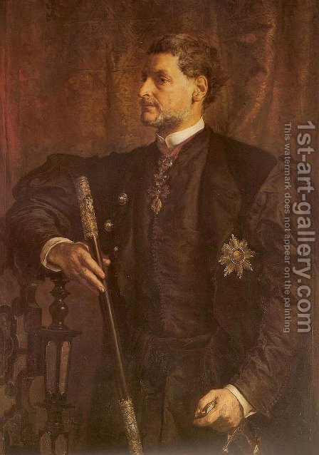 Portrait of Alfred Potocki by Jan Matejko - Reproduction Oil Painting