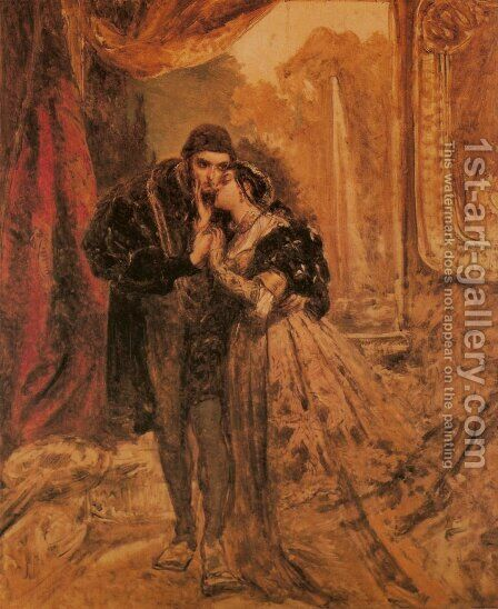 King Sigismund II Augustus and Barbara Radziwill by Jan Matejko - Reproduction Oil Painting