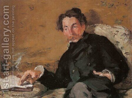 Stephane Mallarme by Edouard Manet - Reproduction Oil Painting