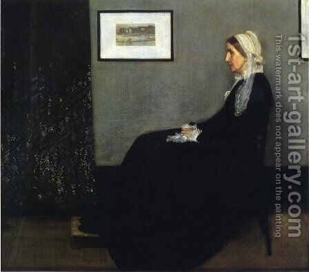 Arrangement in Grey and Black- Portrait of the Artist's Mother  1871 by James Abbott McNeill Whistler - Reproduction Oil Painting