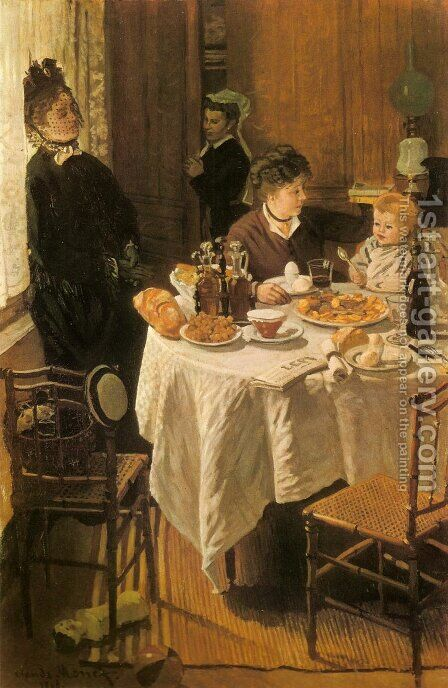 Luncheon by Claude Oscar Monet - Reproduction Oil Painting