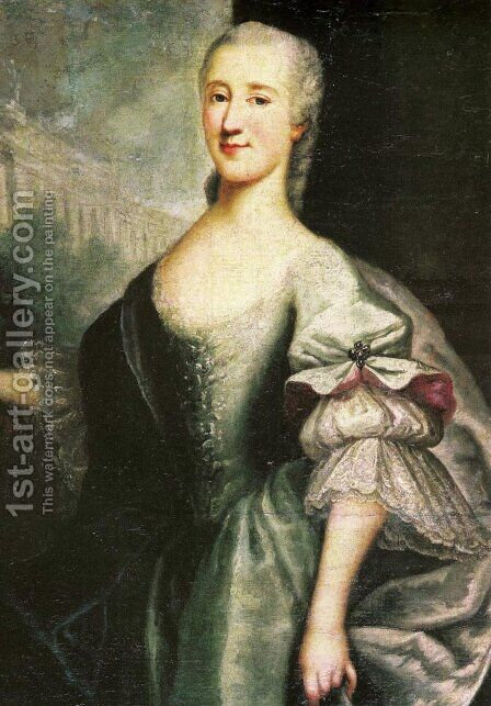 Portrait of Izabela Branicka by Antoni Tallmann - Reproduction Oil Painting
