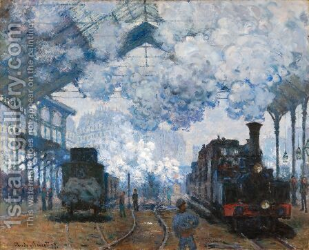 Gare Saint-Lazare by Claude Oscar Monet - Reproduction Oil Painting