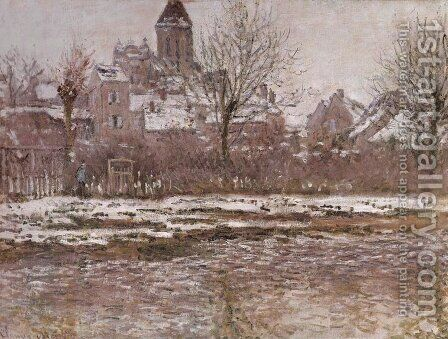 Snow Effect at Vetheuil by Claude Oscar Monet - Reproduction Oil Painting