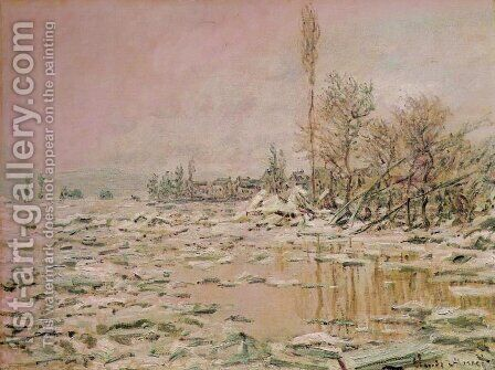 Break-Up of the Ice by Claude Oscar Monet - Reproduction Oil Painting