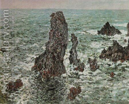 Rocks at Belle-Ile (The Needles of Port-Coton) by Claude Oscar Monet - Reproduction Oil Painting