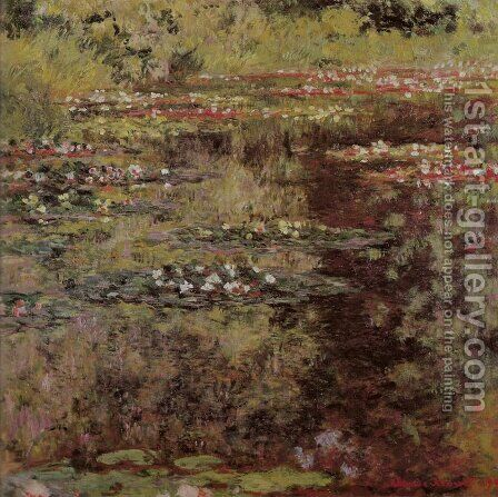 Water Garden at Giverny by Claude Oscar Monet - Reproduction Oil Painting