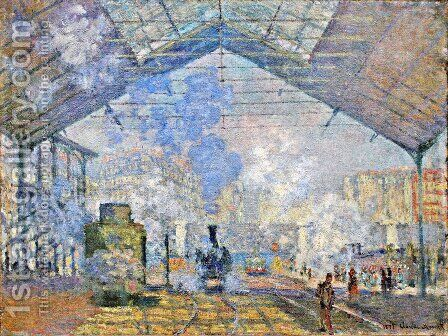 Saint-Lazare Station by Claude Oscar Monet - Reproduction Oil Painting