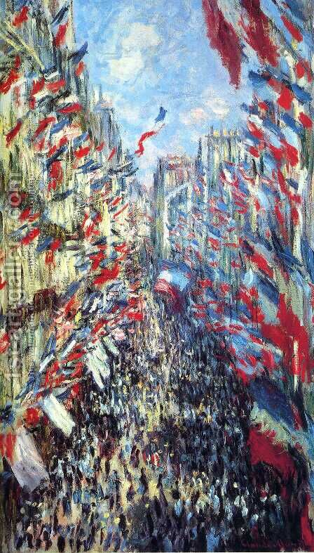 Rue Montorgueil, Paris: Festival of June 30, 1878 by Claude Oscar Monet - Reproduction Oil Painting