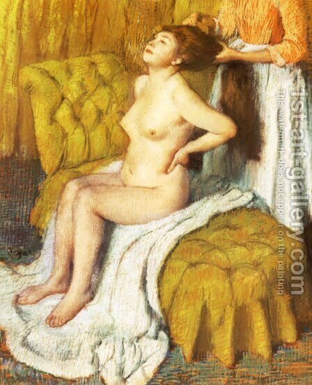 Woman Having Her Hair Combed by Edgar Degas - Reproduction Oil Painting
