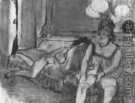 Resting by Edgar Degas - Reproduction Oil Painting