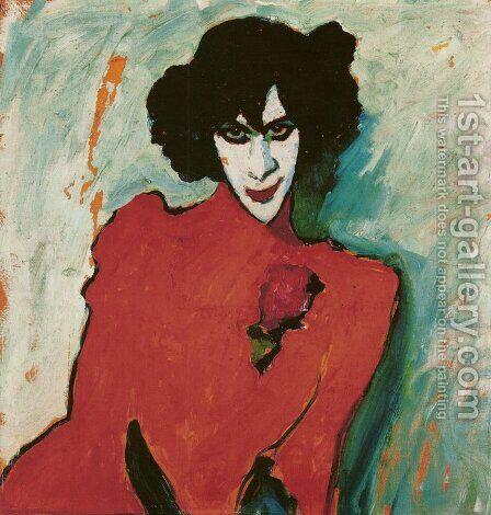 Portrait of the Dancer Alexander Sacharoff by Alexei von Jawlensky - Reproduction Oil Painting
