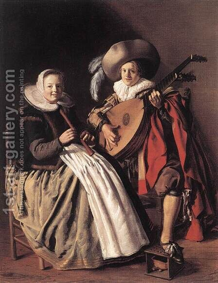 The Duet c. 1630 by Jan Miense Molenaer - Reproduction Oil Painting