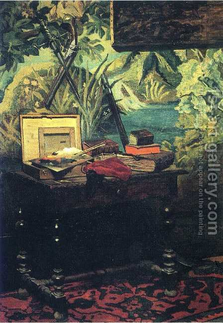 A Corner of the Studio  1861 by Claude Oscar Monet - Reproduction Oil Painting