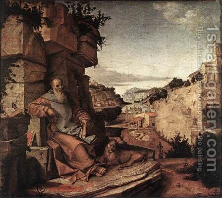 St Jerome c. 1500 by Bartolomeo Montagna - Reproduction Oil Painting