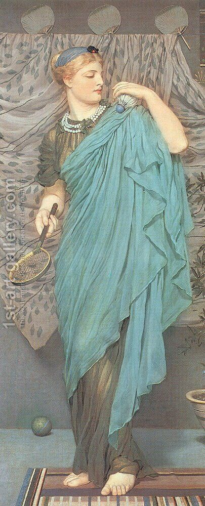 Battledore 1868-70 by Albert Joseph Moore - Reproduction Oil Painting