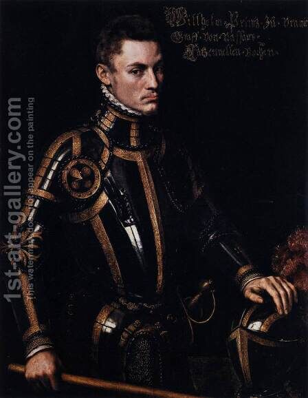 Portrait of William of Orange 1555 by Anthonis Mor Van Dashorst - Reproduction Oil Painting