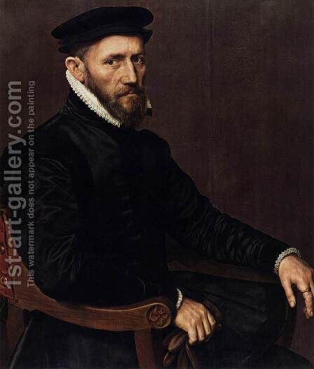 Sir Thomas Gresham 1565-70 by Anthonis Mor Van Dashorst - Reproduction Oil Painting