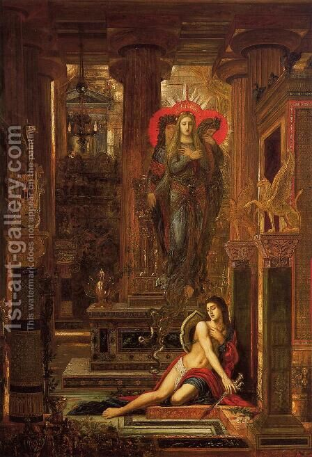 Orestes and the Erinyes 1875-1893 by Gustave Moreau - Reproduction Oil Painting