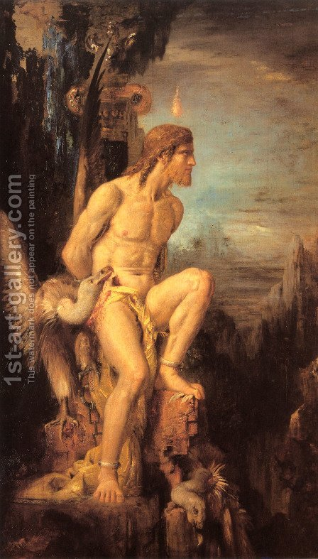 Prometheus 1868 by Gustave Moreau - Reproduction Oil Painting
