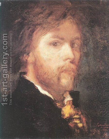 Self-Portrait 1850 by Gustave Moreau - Reproduction Oil Painting