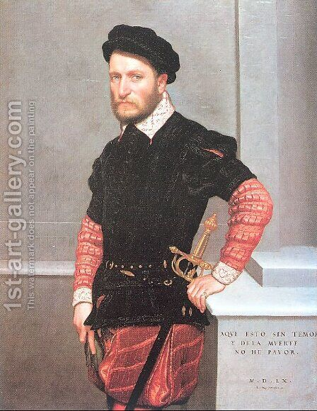 Don Gabriel de la Cueva, Count of Albuquerque 1560 by Giovanni Battista Moroni - Reproduction Oil Painting