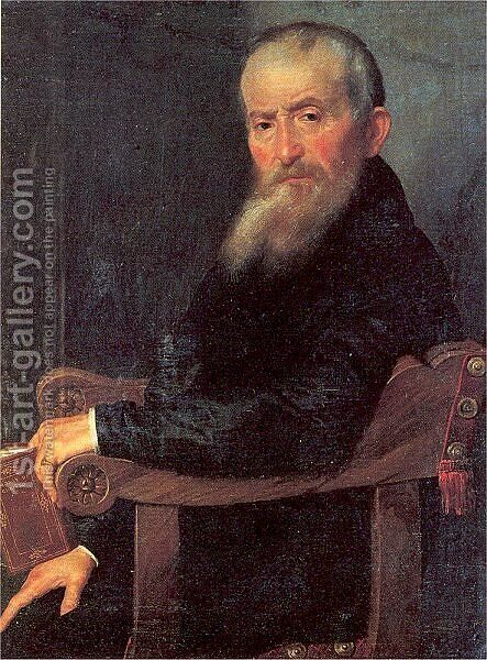Giovanni Antonio Pantera by Giovanni Battista Moroni - Reproduction Oil Painting